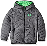 Under Armour Boys' ColdGear Reactor Hooded Jacket, Graphite/Lime Twist, Youth Large