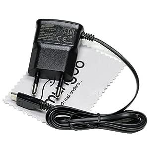Cable de carga para Samsung Original ETA010 Cargador Cable microUSB para Samsung Galaxy A5 (A500F), Galaxy A5 2016 (A510F) con mungoo pantalla paño de ...