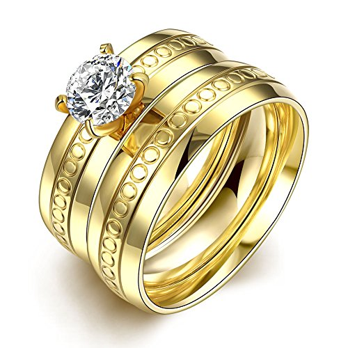 Retop Jewelry 18K Gold Plated Diamonds Womens Wedding Rings Engagement Rings For Girl LKN054 (9)