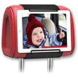 Universal Car Headrest Mount Holder, Car Back Seat Holder for ALL 7 Inch to 11 Inch Tablets - Apple iPad, iPad Mini 2/3/4, iPad Air, iPad Pro 9.7, Samsung Galaxy Tab & Note and More