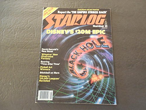 Starlog #31 Feb 1980 20M Down A Black Hole; Time After Time; - Glasses 31 Feb