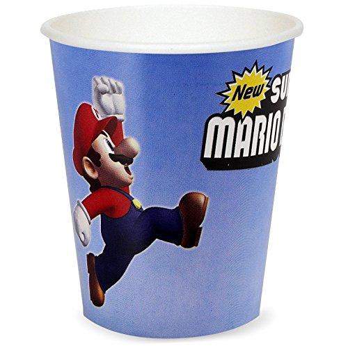 Princess Peach Mario Kart Costumes (Super Mario Bros Party Supplies - 9 oz. Paper Cups (8))