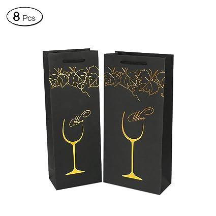 QTYB 8 Bolsas de Vino con diseño de UVA para Regalo, Bolsa ...