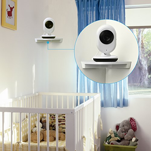 Video Baby Monitor, with Night Vision Camera, Two Way Talkback Audio and Lullaby Soother System - Including compatible Shelf & hook