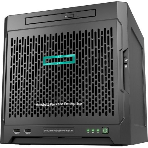 HP ProLiant MicroServer Gen10 Ultra Quad-core 8GB DDR4 SDRAM Serial ATA/600 Controller Micro Tower Server Model P03698-S01