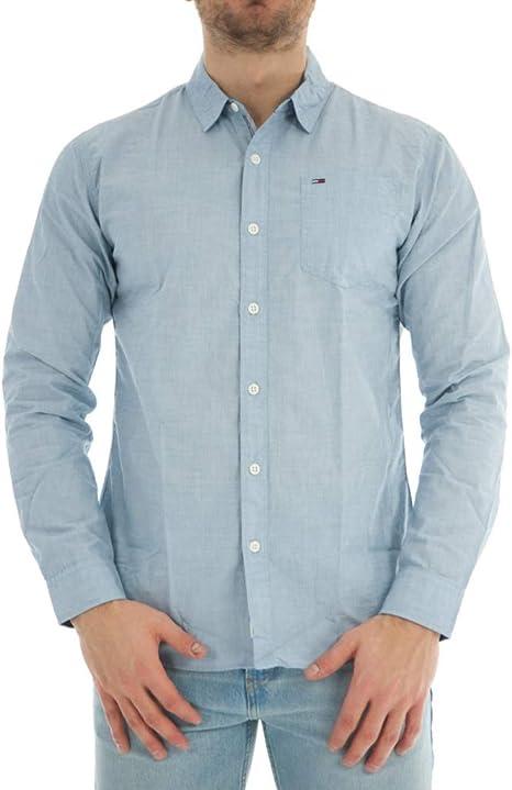 Tommy Hilfiger Solid Camisa para Hombre: Amazon.es: Ropa y ...