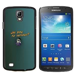 Caucho caso de Shell duro de la cubierta de accesorios de protección BY RAYDREAMMM - Samsung Galaxy S4 Active i9295 - ¿Por qué tan serio Figurita grandes gafas de dibujos animados