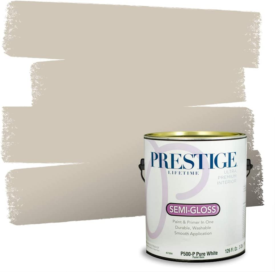 Amazon Com Prestige Paints P500 P Sw7036 Interior Paint And Primer In One 1 Gallon Semi Gloss Comparable Match Of Sherwin Williams Accessible 1 Gallon Sw271 Accessible Beige Home Improvement