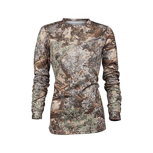 - King's Camo Ladies Hunter Series Long Sleeve Camo Tee, Desert Shadow, X-Large