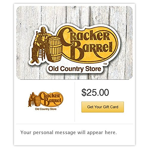 Electronic Gift Card (Cracker Barrel Gift Cards - E-mail Delivery)