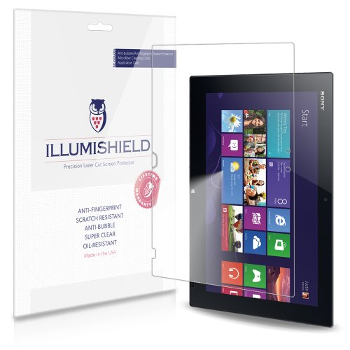 iLLumiShield Screen Protector Compatible with Sony VAIO Tap 11 (2-Pack) Clear HD Shield Anti-Bubble and Anti-Fingerprint PET Film