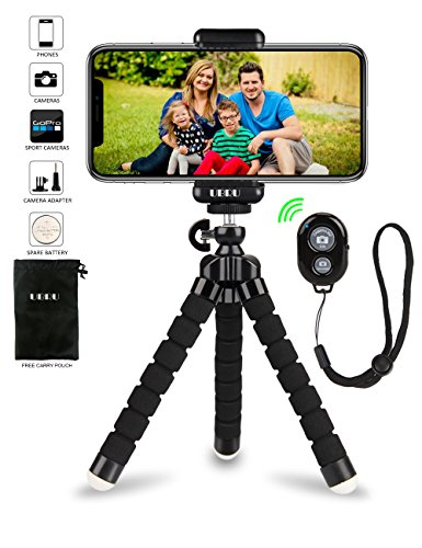 Cheap Electronics Features iPhone Tripod Phone Tripod, UBRU Tripod for iPhone Stand with Bluetooth Remote..