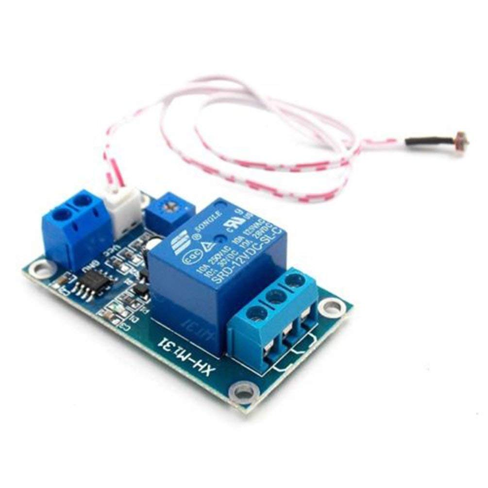 TAOHOU XH-M131 M/ódulo de rel/é fotosensible DC 12V M/ódulo de rel/é fotorresistente Azul