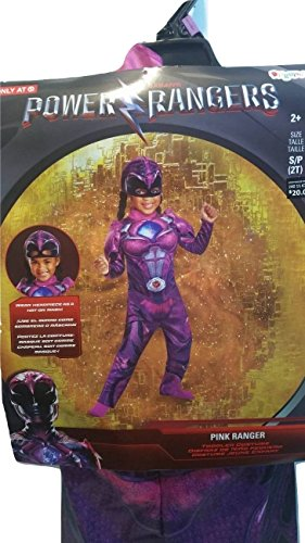 Disguise Power Ranger Movie Deluxe Costume, Pink 2T S/P