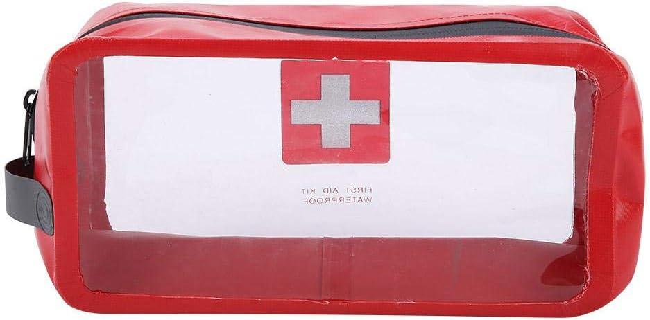 Bolsa de Maquillaje para Viajar Bolsa de Almacenamiento de Primeros Auxilios a Prueba de Agua de Emergencia VGEBY1 Bolsa de Kits m/édicos de Supervivencia Senderismo Bolsa de medicamentos