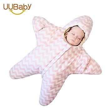 XING GUANG Bebé Niño Prevención Bag Bag 0-1 0-1 Bebé Edredón De Dibujos Animados Estrellas De Mar Cremallera Saco De Dormir Infantil,Pink(88 * 80) s: ...