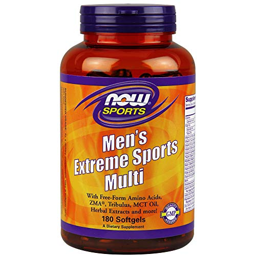 NOW Sports Nutrition, Men's Extreme Sports Multi with Free-Form Amino Acids, ZMA®, Tribulus, MCT Oil, and Herbal Extracts, 180 ()