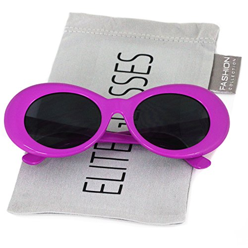 Elite Vintage NIRVANA Kurt Cobain Round Sunglasses For Women Men Eyewear (Purple, - Sunglasses Cobain Kurt Nirvana