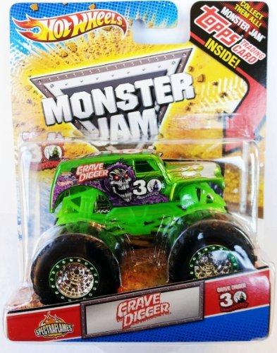 Monster Jam 2012 Grave Digger Green Spectraflames Topps 30th Anniversary