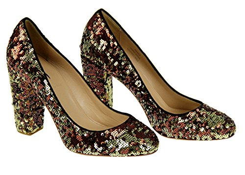 J Crew Collection Etta Sequin Pumps Style# 24969 New Gold Copper Size (Etta Collection)