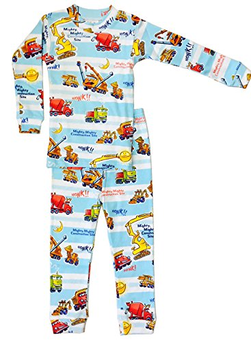 Books to Bed Boys' Mighty, Mighty Construction Site Fitted Two-Piece Pajamas (4T)