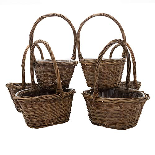 Royal Imports Oval Shaped -Small- Willow Handwoven Easter Basket 9
