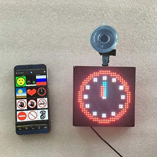 Crazywind Kontrolliert Emoji Auto LED Display Screen Verstellbar Bluetooth App f/ür Ios Android