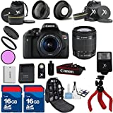 Canon T6i Camera Body with 18-55mm IS STM Lens+ Carry Case + XIT 3Pc Filter Kit + XIT Wide Angle Lens + XIT Telephoto Lens +22pc Accessory Bundle Kit - International Version