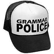 The Goozler Grammar Police - Funny Parody Joke Gag - Adult Trucker Cap Hat