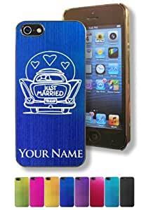 Apple Iphone 5/5S Case/Cover - JUST MARRIED - Personalized for FREE (Click the CONTACT SELLER button after purchase and send a message with your case color and engraving request)