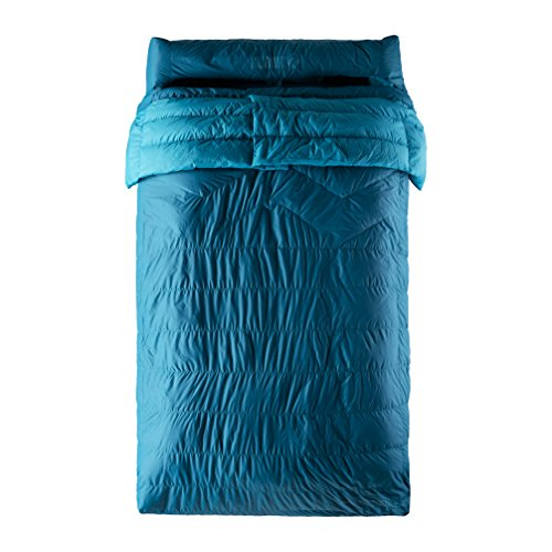 Klymit KSB 30 Degree Down Two Person Double Sleeping Bag, Blue For Sale