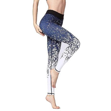 MUBFT Leggins Mujer Fitness Leggings Cintura Alta Ejercicio ...