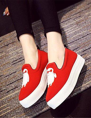 mocasines exterior Red 5 Zq negro us9 5 De us7 Uk5 Zapatos plataforma Cn41 Eu38 Eu40 Uk7 Gyht Mujer creepers Rojo Casual Red Cn38 tela 0x0CSw