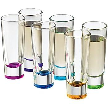 Libbey Troyano Colors Shot Glass Set, 6-Piece