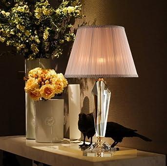 Schon YFF@ILU Crystal Dekorative Tischleuchte Nachttischlampe Schlafzimmer Luxus  Dekorative Leuchte Wohnzimmer Modell Haus Einfache Und
