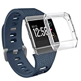 Fitbit Ionic Bands with Case, OenFoto Classic TPU Replacement Strap for Fitbit Ionic Smart Fitness Watch, Small