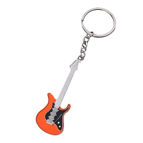 Kentop - Llavero de metal con colgante de guitarra eléctrica ...