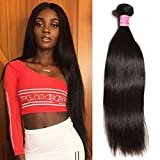 Nadula 8A Brazilian Straight Virgin Human Hair 1 bundle Weave Unprocessed Real Remy Human Hair Extension Can be Dyed and Bleached Natural Color (18inch)