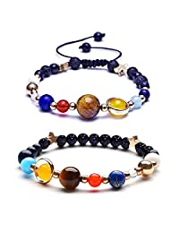 Solar System Bracelet The Eight Planets Guardian Universe Galaxy Gemstone Beads Bracelet for Women Men