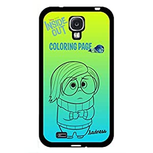 Inside Out Samsung Galaxy S4 Case, Sadness Picture Inside Out Phone Case Black Hard Plastic Case Cover For Samsung Galaxy S4