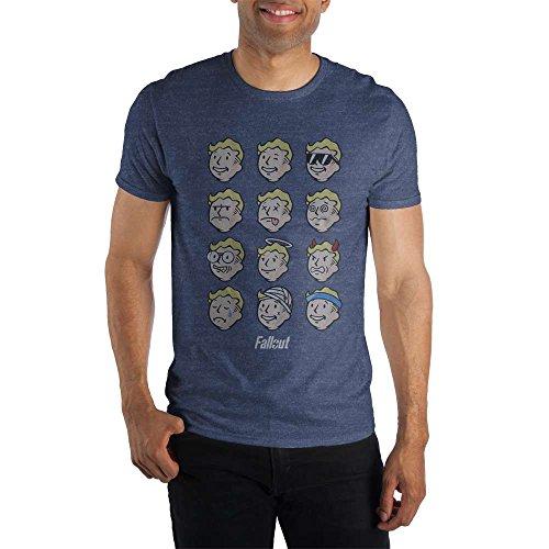 Bioworld Fallout Vault Boy Faces Mens T Shirt-XL -