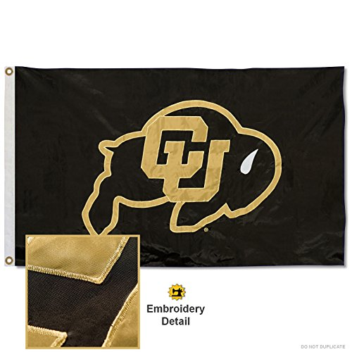 Colorado Buffaloes Embroidered and Stitched Nylon Flag
