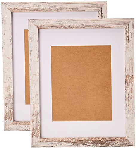 Home&Me 11x14 Picture Frame Rotten White 2 Pack - Made to Display Pictures 8x10 with Mat or 11x14 Without Mat - Wide Molding - Wall Mounting Material Included - ELEGANT EUROPEAN DESIGN: 11x14 inch RottenWhite Picture Frame Made to Display Pictures 8x10 inch with Mat or 11x14 inch Without Mat. Hanging hardware included for vertical or horizontal wall display HIGHEST QUALITY MATERIAL: Ideal for photos sized 11x14 inches without the Mat and 8x10 inches with the Mat. The frame includes built-in metal tabs for easy access to display your photos, cards and memories ATTRACTIVE LOOK: White colored mat keeps photos and artwork looking great for years. Turn your portraits, artful prints and everyday shots into a spectacular display. The actual mat opening is 7.5x9.5 inches. It is designed to hold an 8x10 inch photo in place. We recommend taping the photo to the back of the mat - picture-frames, bedroom-decor, bedroom - 51O5m%2Btg kL -