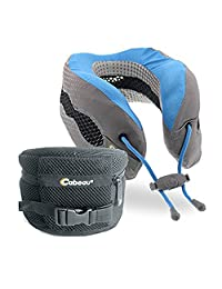 Cabeau Evolution Cool Travel Pillow, Royal Blue/Grey, Under Seat
