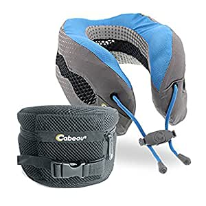 Cabeau Evolution Cool Travel Pillow - The Best Neck Pillow with 360 Head & Neck Support - Glacier