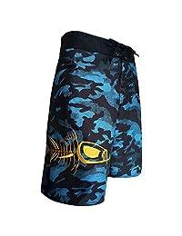 Tormenter Men's 5-Pocket Waterman Fishing Board Shorts (Blue Camo) (38)