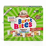 Burst Bites By Baykx: Delicious Filled Pastries In 4 Flavors –Blueberry,Strawberry, Apricot, Raspberry–Snack Variety Pack With 12 IndividuallyWrapped Cookies –Healthy Low Sodium Sweet Treats