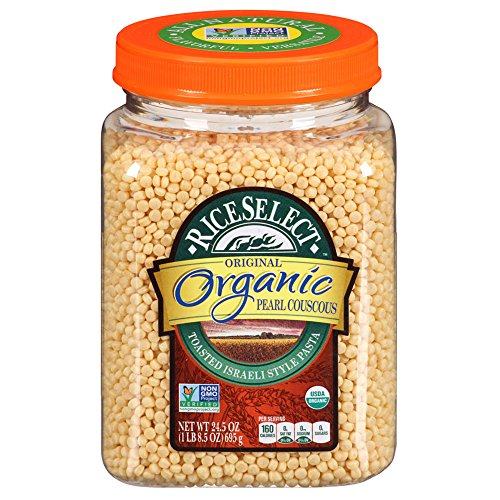 RiceSelect Organic Pearl Couscous, 24.5-Ounce (Pack of 4) by RiceSelect