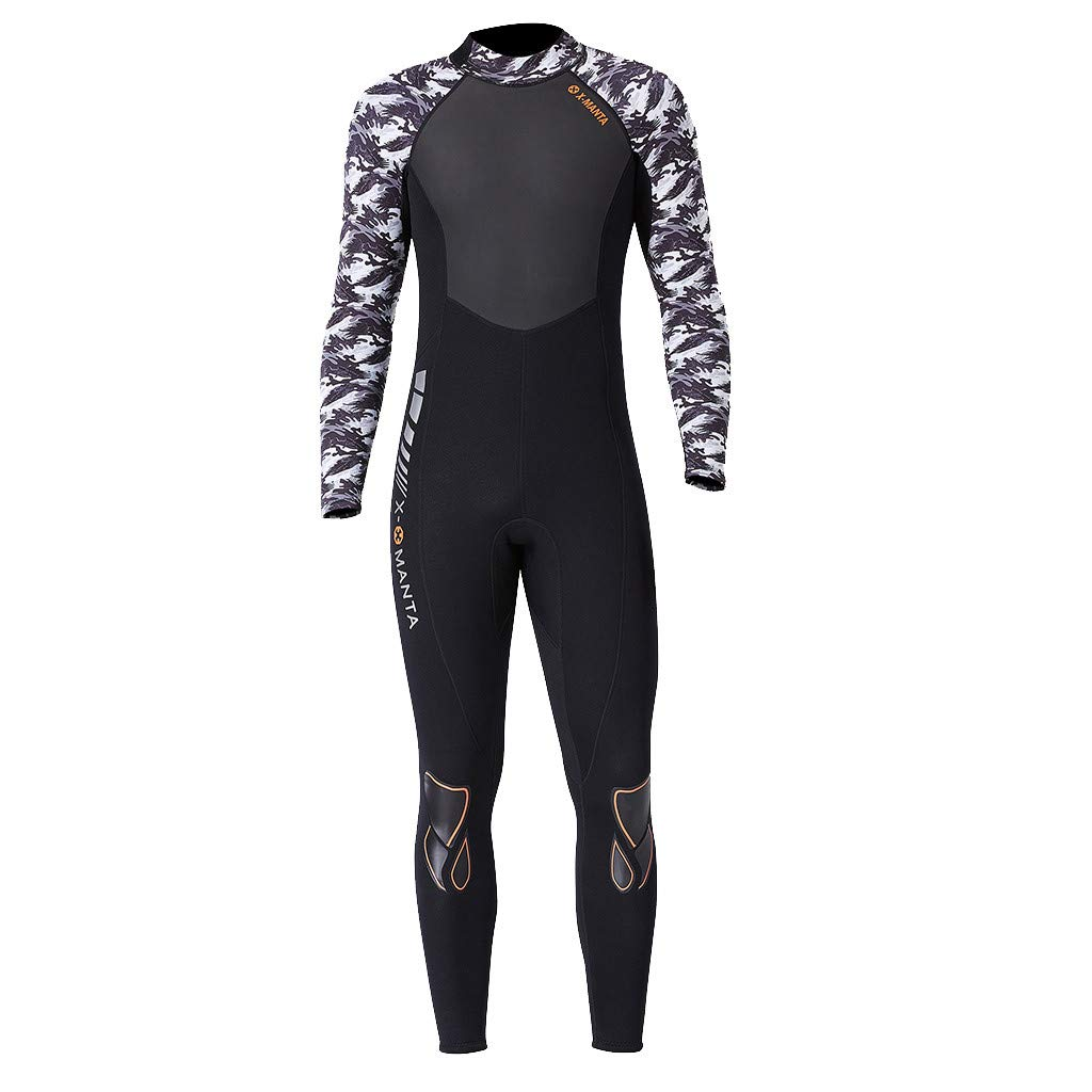 Yliquor Men's Keep Warm Sunscreen Swimming,Surfing and Snorkeling Diving Coverall SuitQuick Dry Breathable Elastic Training Comfy Classic Fashion by Yliquor (Image #2)