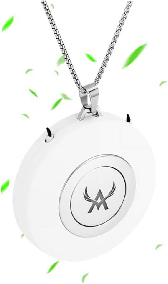 Details about  /Mini Portable Wearable Necklace Air Purifier Eliminates Smoke Smell Silver//White